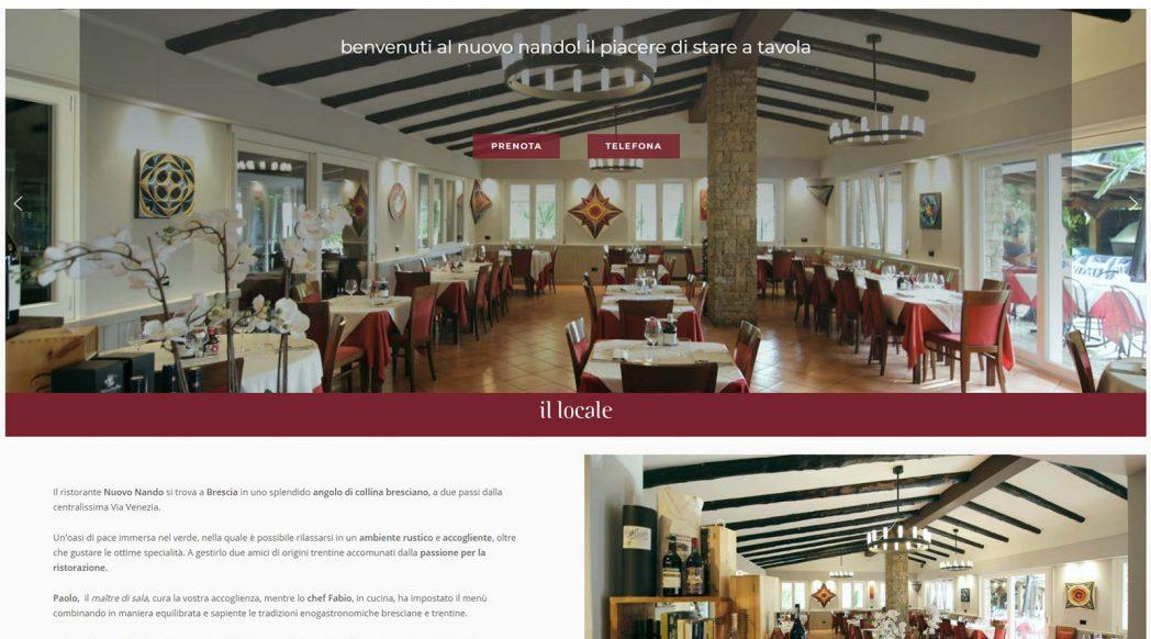 Sito web del Ristorante Nuovo Nando di Brescia